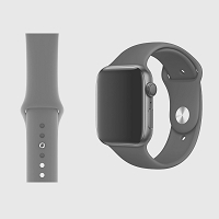 iWatch 42mm to 44mm Wrist Band Gray