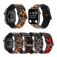iWatch 42mm-44mm New IWLP Premium Leopard Dot Leather Band
