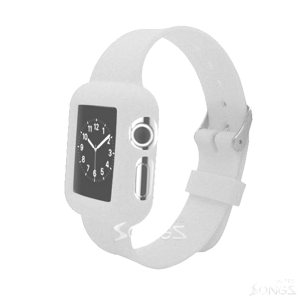 I Watch (1.8inch/42mm) TPU(Gel) Case With Belt White