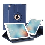 iPad 9.7 Inch 2018/2017/Air2/Air 360 Degree Rotating Leather Case Blue