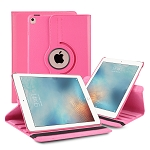 iPad 9.7 Inch 2018/2017/Air2/Air 360 Degree Rotating Leather Case Pink