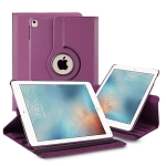 iPad 9.7 Inch 2018/2017/Air2/Air 360 Degree Rotating Leather Case Purple