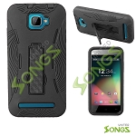 BLU Dash 5.0 D410a Heavy Duty Case With Kickstand Black/Black