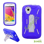 BLU Dash Music JR D390 Dash C Music D380 Heavy Duty Case with Kikstand Purple/White