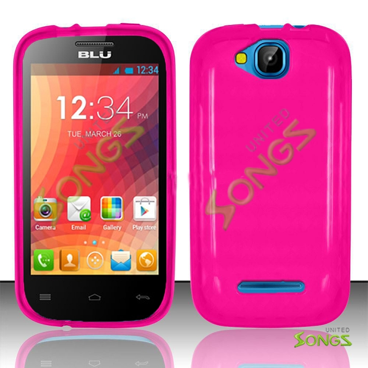 BLU Dash Jr 4.0 D142 TPU(Gel) Case Pink