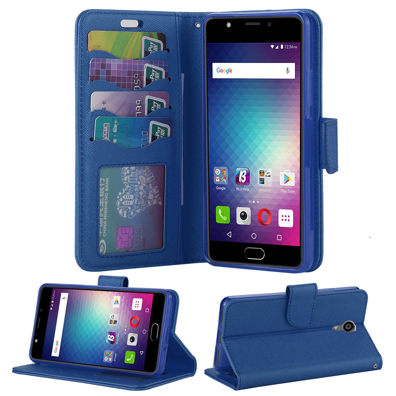 buy popular f991c e8bce BLU Life One X2 L0090UU Wallet Case Blue