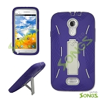 Blu Studio 5.0 Heavy Duty Case with Kickstand High Purple/White