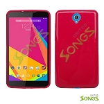 BLU Studio 7.0 D700i TPU(Gel) Case Red