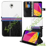 BLU Studio 7.0 D700i Wallet Case Black/White