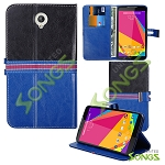 Blu Studio 7.0 D700i Wallet Case Blue/Black