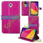 Blu Studio 7.0 D700i Wallet Case Hot Pink