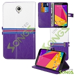 Blu Studio 7.0 D700i Wallet Case Purple/White