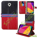 BLU Studio 7.0 D700i Wallet Case Red/Black