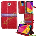 Blu Studio 7.0 D700i Wallet Case Red