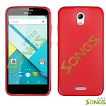 BLU Studio C D830U TPU(Gel) Case Red