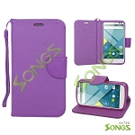 BLU Studio C D830U Wallet Case Purple