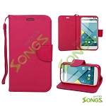 BLU Studio C D830U Wallet Case Red