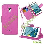 BLU Studio X D750U Wallet Case Hot Pink