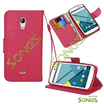 BLU Studio X D750U Wallet Case Red