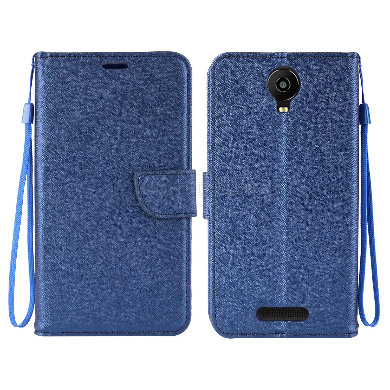 new product 7c7f2 370e0 BLU Studio Mega/ Studio XL 2/Adance 6.0 Wallet Case Blue