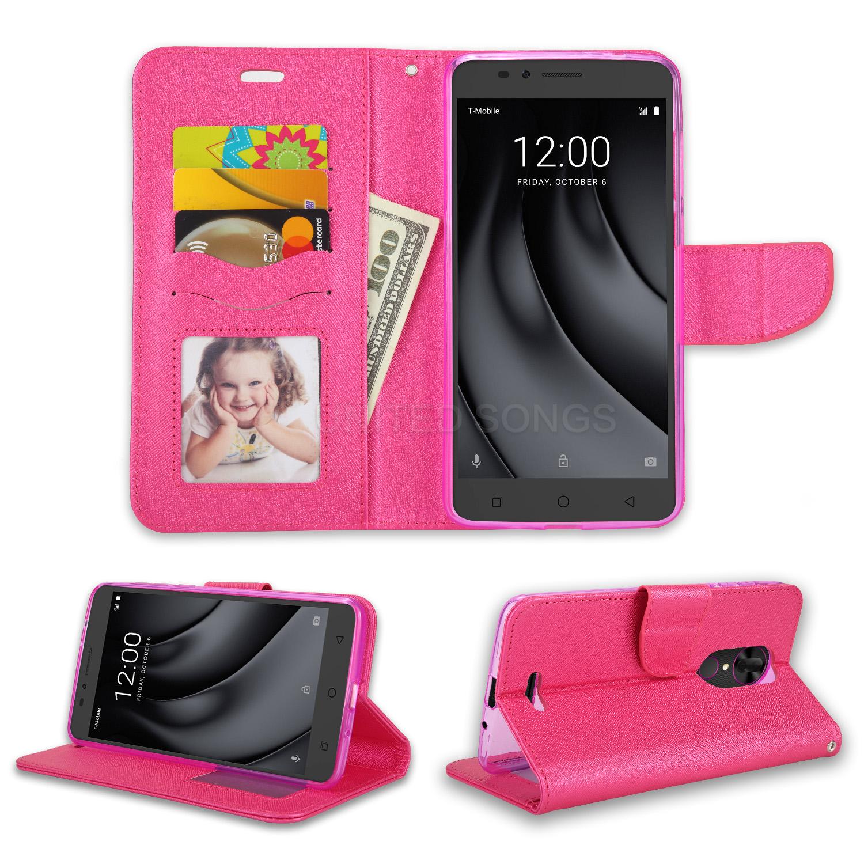 sale retailer 2930c 92cfc T-mobile Revvl Plus Wallet Case Pink