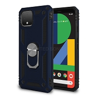 Google Pixel 4 New Hybrid Case With Ring Blue