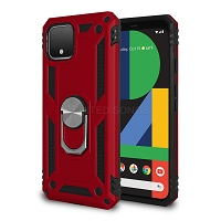 Google Pixel 4 New Hybrid Case With Ring Red