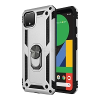 Google Pixel 4 XL New Hybrid Case With Ring Silver