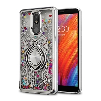 LG Tribute Royal/Aristo 4 Plus/K30 2019/Escape Plus/Arena 2 Liquid Glitter Case With Ring Silver