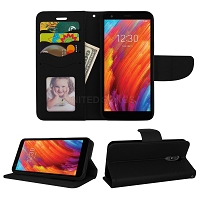 LG Tribute Royal/Aristo 4 Plus/K30 2019/Escape Plus/Arena 2 Wallet Case Black