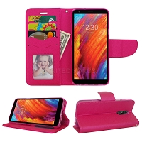 LG Tribute Royal/Aristo 4 Plus/K30 2019/Escape Plus/Arena 2 Wallet Case Pink