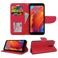LG Tribute Royal/Aristo 4 Plus/K30 2019/Escape Plus/Arena 2 Wallet Case Red