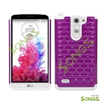 LG G3 Stylus D690 Hybrid Diamond Case Hot Purple/White
