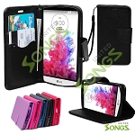 LG G3 Stylus D690 Wallet Case Black