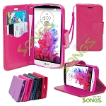 LG G3 Stylus D690 Wallet Case Hot Pink