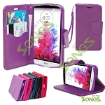 LG G3 Stylus D690 Wallet Case Purple