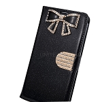 iPhone 6/6S Sparkle Diamond Wallet Case With Butterfly Design Black