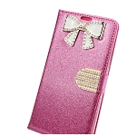 iPhone 6/6S Sparkle Diamond Wallet Case With Butterfly Design Pink