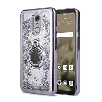 Samsung Galaxy Note 10 Plus New Liquid Glitter Case With Ring Silver