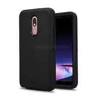 LG Tribute Royal/Aristo 4 Plus/K30 2019/Escape Plus/Arena 2 New Defender Case With Screen Protector Black/Black