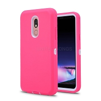 LG Tribute Royal/Aristo 4 Plus/K30 2019/Escape Plus/Arena 2 New Defender Case With Screen Protector Pink/White