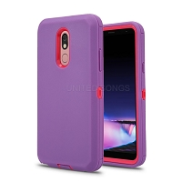 LG Tribute Royal/Aristo 4 Plus/K30 2019/Escape Plus/Arena 2 New Defender Case With Screen Protector Purple/Pink