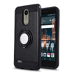 LG Tribute Dynasty SP200/Aristo 2 X210MA New Hybrid Ring Grip Kickstand Case Black
