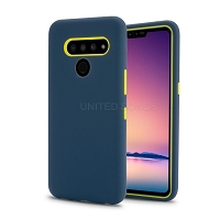 LG V50 ThinQ New Triple Layer Hybrid Protective Case Blue/Green