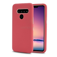 LG V50 ThinQ New Triple Layer Hybrid Protective Case Red/Pink