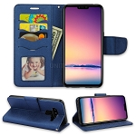 LG V50 ThinQ Wallet Case Blue
