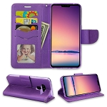 LG V50 ThinQ Wallet Case Purple