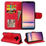 LG V50 ThinQ Wallet Case Red