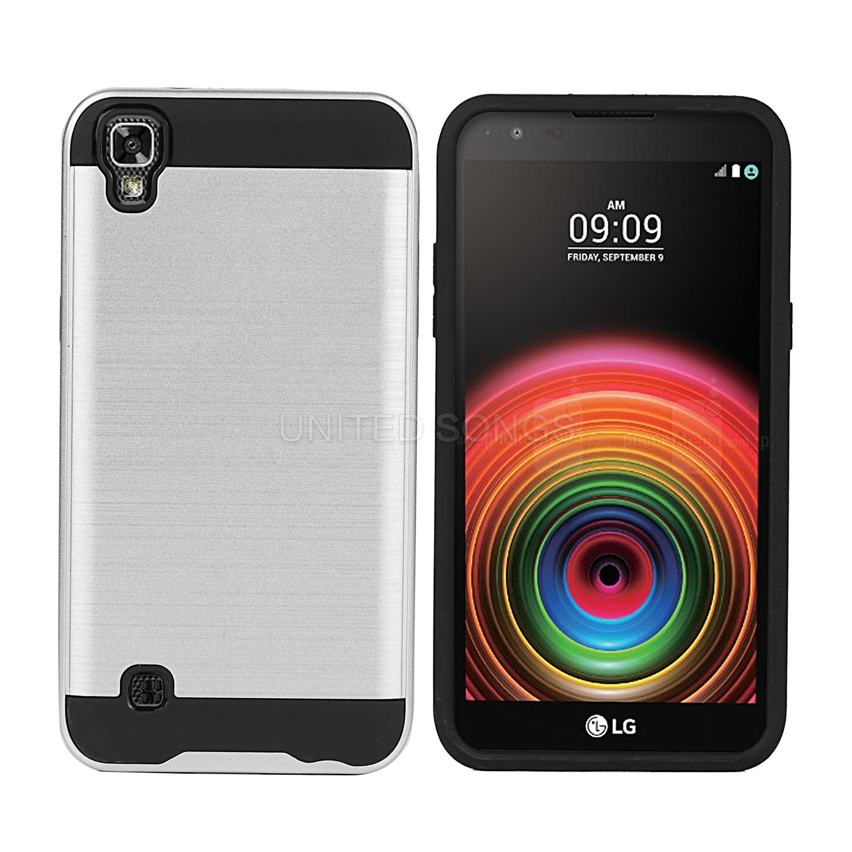 info for 076fc 0e2ed LG X power LS755/K450/US610 Hybrid Case Silver