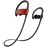 S102 Sweat & Water Resistant Wireless Sport Headset Red